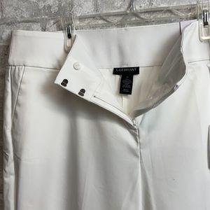 Lane Bryant white wide leg crop pants